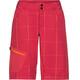 VAUDE Craggy pantaloncini da ciclismo Donna rosso